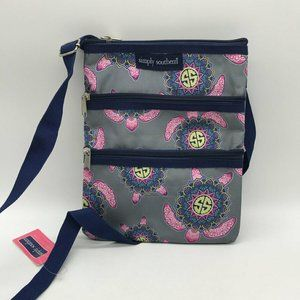 Simply Southern Blue & Pink Crossbody